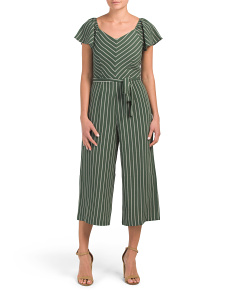 Juniors Striped Jumpsuit