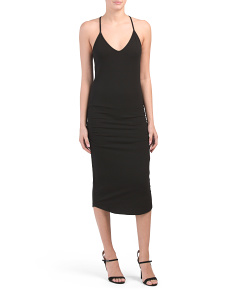 Made In Usa V-neck Racerback Dress
