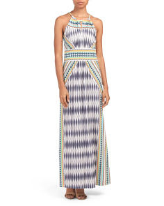 Morris Ikat Diamond Print Maxi Dress