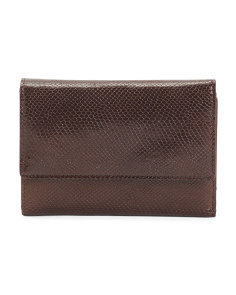 Made In Italy Fold Leather Wallet