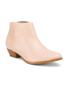Made In Brazil Leather Ankle Booties