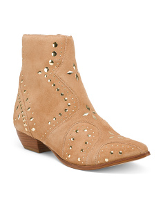 Made In Brazil Suede Pointy Toe Western Inspired Boots