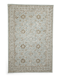 Made In India Wool Blend Hooked Area Rug
