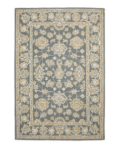 Made In India Hooked Wool Blend Area Rug