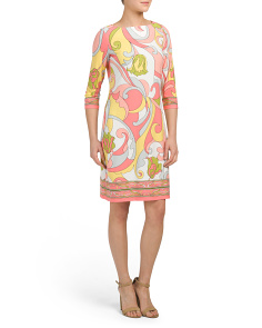 Jersey Shift Psych Print Dress