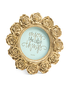 3x3 Round Mini Rose Photo Frame