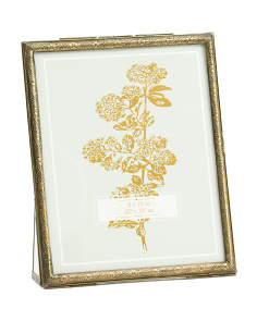 8x10 Brass Metal & Glass Photo Frame
