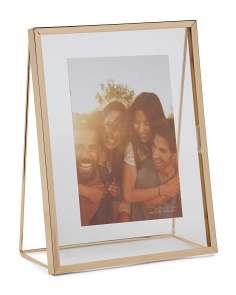 8x10 Metal Geo Floating Photo Frame