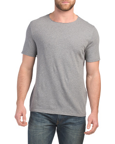Raw Edge Short Sleeve Tee