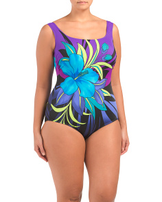 Plus Tropical Pinata One-piece Swimsuit