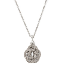 Made In Italy Sterling Silver Modern Love Knot Necklace