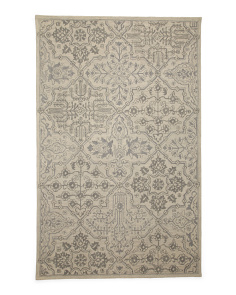 Made In India Wool Medallion Rug