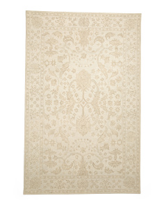 Made In India 5x8 Hand Hooked Wool Rug