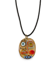 Made In Italy Murano Glass Picasso Pendant Necklace
