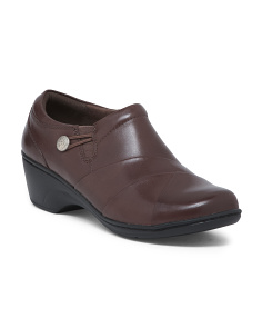Wide Lightweight Cushion Comfort Leather Shoes