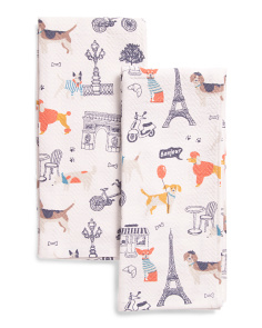 Made In India 2pk Paris Pets Kitchen Towels