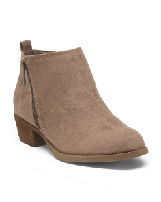 Ankle Bootie With Side Zippers