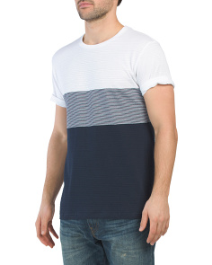 Stripe Color Block Tee