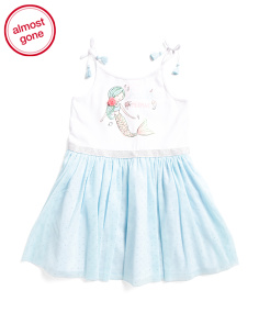 Toddler Girls Mermaid Tie Strap Tutu Dress