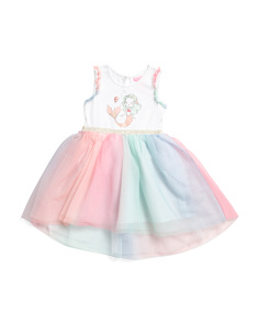 01f461a0c Toddler Girls Mermaid Hi-lo Ombre Mesh Tutu Dress ...