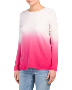 Cashmere Ombre Dip Dye Sweater