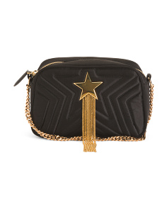 Made In Italy Mini Star Satin Shoulder Bag