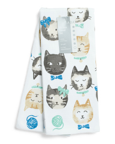 2pk Kitty Cafe Kitchen Towels