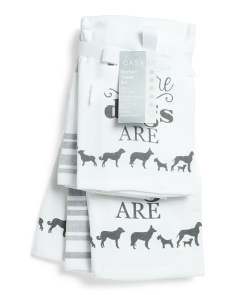 5pk Home Sweet Home Kitchen Towels