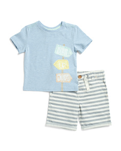 Infant Boys 2pc Surfs Up Dude Short Set