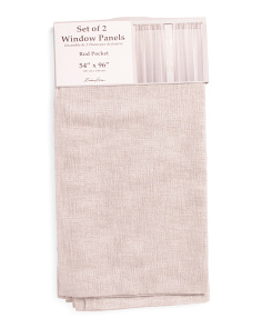 54x96 Set Of 2 Linen Look Shimmer Curtains
