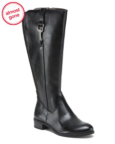 Wide Calf Comfort Riding Boots