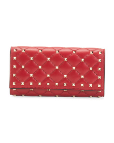 Made In Italy Rockstud Spike Leather Wallet