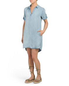 Macey Roll Tab Shirt Dress