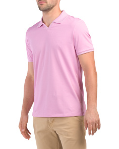 Pima Cotton Johnny Collar Polo