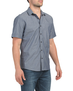 Short Sleeve Check Dobby Shirt