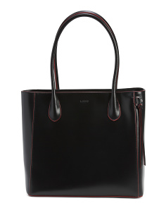 Cecily Rfid Leather Satchel