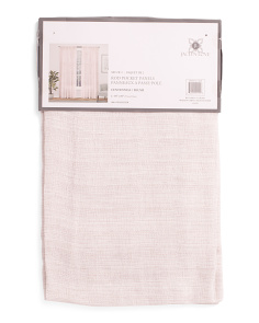 38x84 Set Of 2 Faux Linen Sheer Curtains