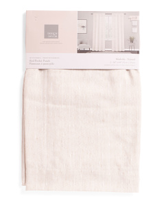 Set Of 2 Textured Linen Look Curtains