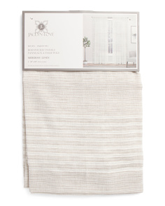 38x84 Set Of 2 Linen Look Sheer Curtains