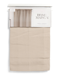 38x84 Set Of 2 Linen Look Embroidered Curtains