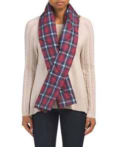 Plaid Puffy Scarf