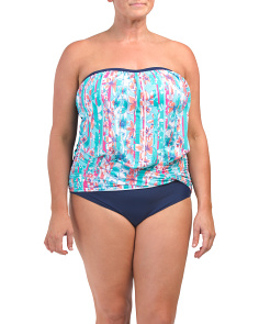 Plus Crazy Floral One Piece Swimsuit