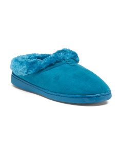 Faux Fur Slip On Slippers