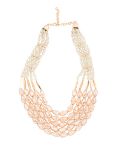 5 Row Beaded Statement Necklace