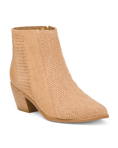 Made In Brazil Embossed Leather Western Booties