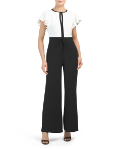 Petite Made In Usa Scuba Crepe Jumpsuit