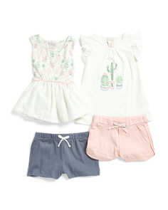 de058dd4f Toddler Girls 4pk Mix & Match Cactus Short Set ...