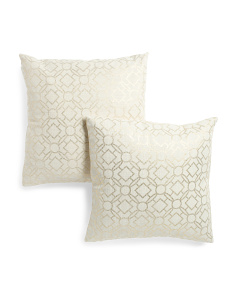 20x20 2pk Foil Printed Pillows