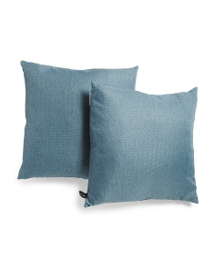 20x20 2pk Linen Look Pillow