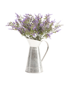 18in Lavender In Tin Pitcher